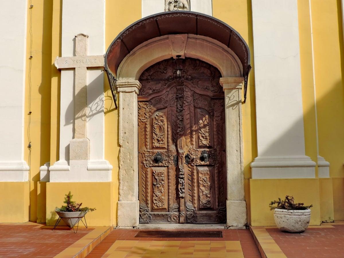 входната врата, архитектура, къща, сграда, преддверие, вратата, закрито, вратата