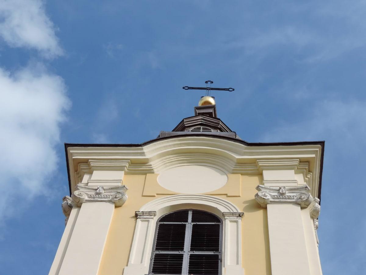 Църквата кула, хубаво време, религия, архитектура, на открито, традиционни, дневна светлина, синьо небе