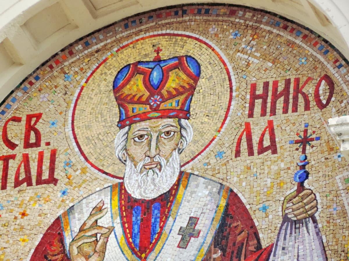 christianity, handmade, saint, spirituality, mosaic, art, religion, illustration