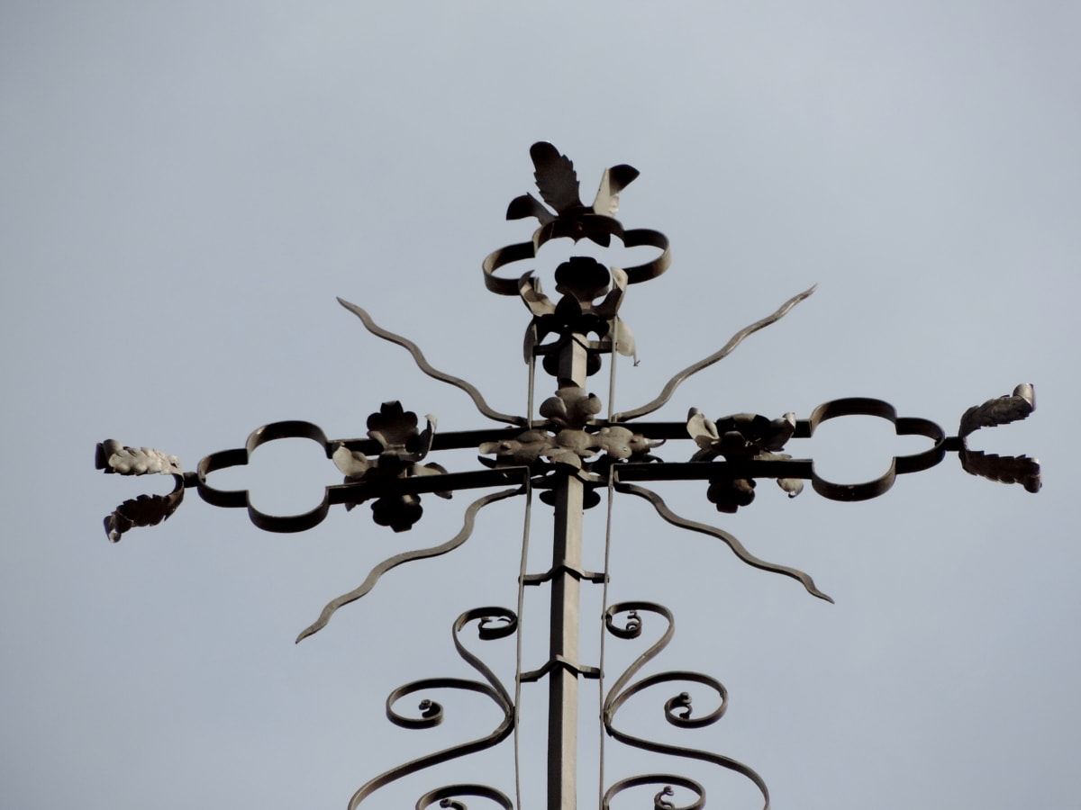 Arabeske, aus Gusseisen, handgefertigte, Himmel, Ornament, Symbol, im freien