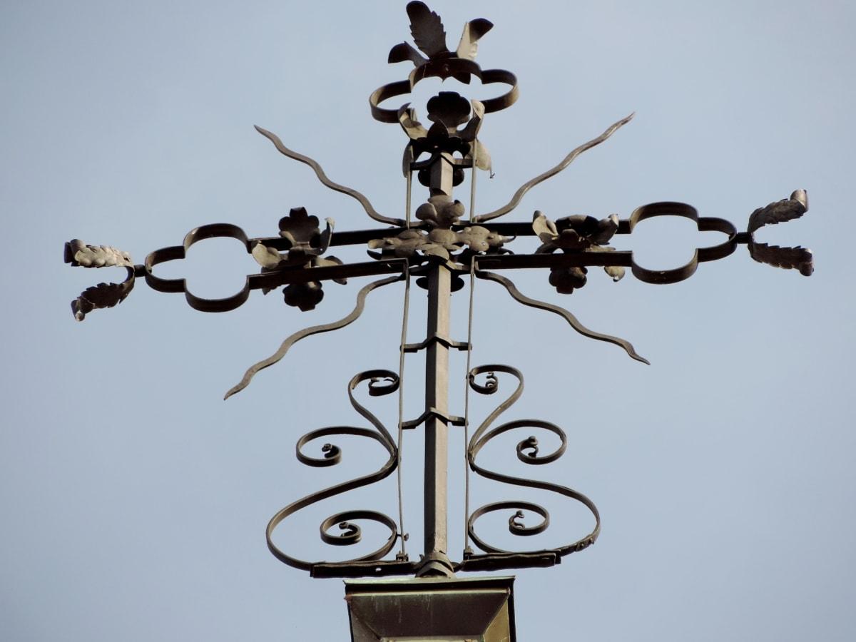 чугуна, христианство, Крест, Небеса, наследие, символ, на открытом воздухе, Старый