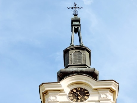 church tower, cathedral, architecture, building, religion, dome, outdoors, old
