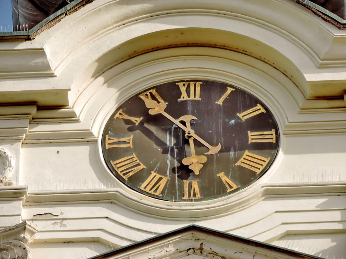 analógové hodiny, liatina, veža kostola, dedičstvo, Architektúra, hodiny, Čas, klasický