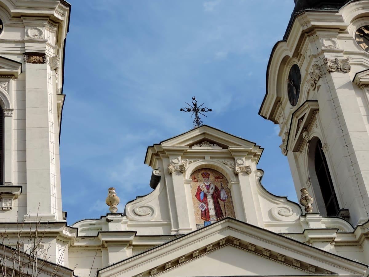 patrimoine, Saint, architecture, façade, Église, Création de, Cathédrale, religion