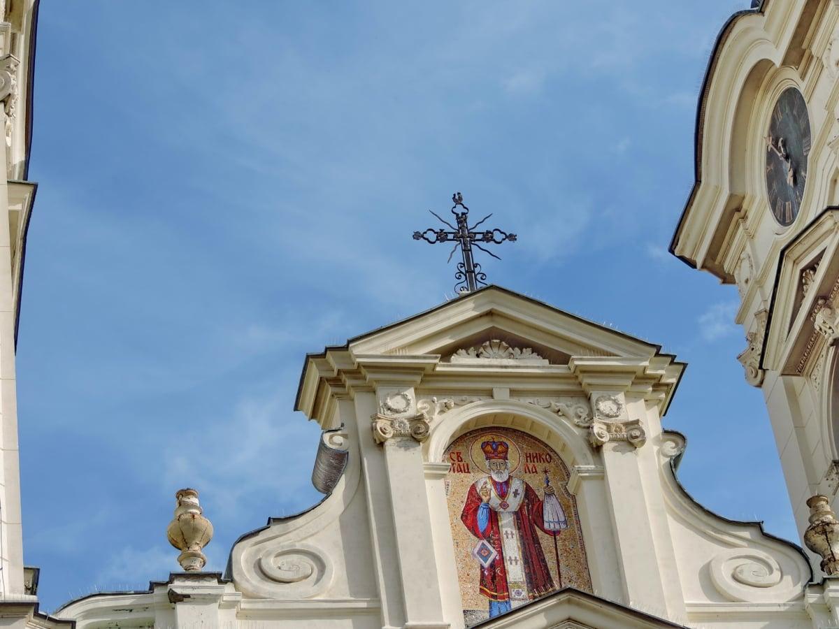 πύργος εκκλησιών, Αγίου, Σταυρός, Μοναστήρι, αρχιτεκτονική, κτίριο, Εκκλησία, θρησκεία