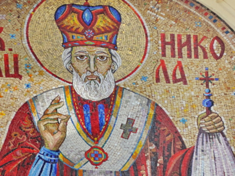 orthodoxe, religion, Saint, Serbie, art, mosaïque, imprimer, illustration