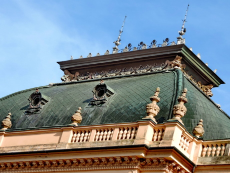 castle, handmade, ornament, palace, rooftop, building, architecture, residence