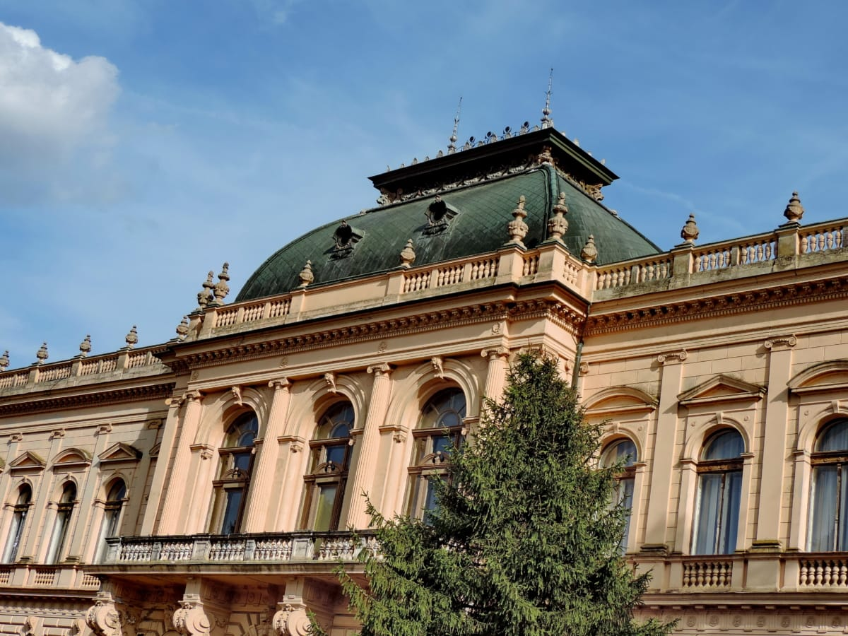 baroque, castle, imperial, victorian, building, palace, house, facade