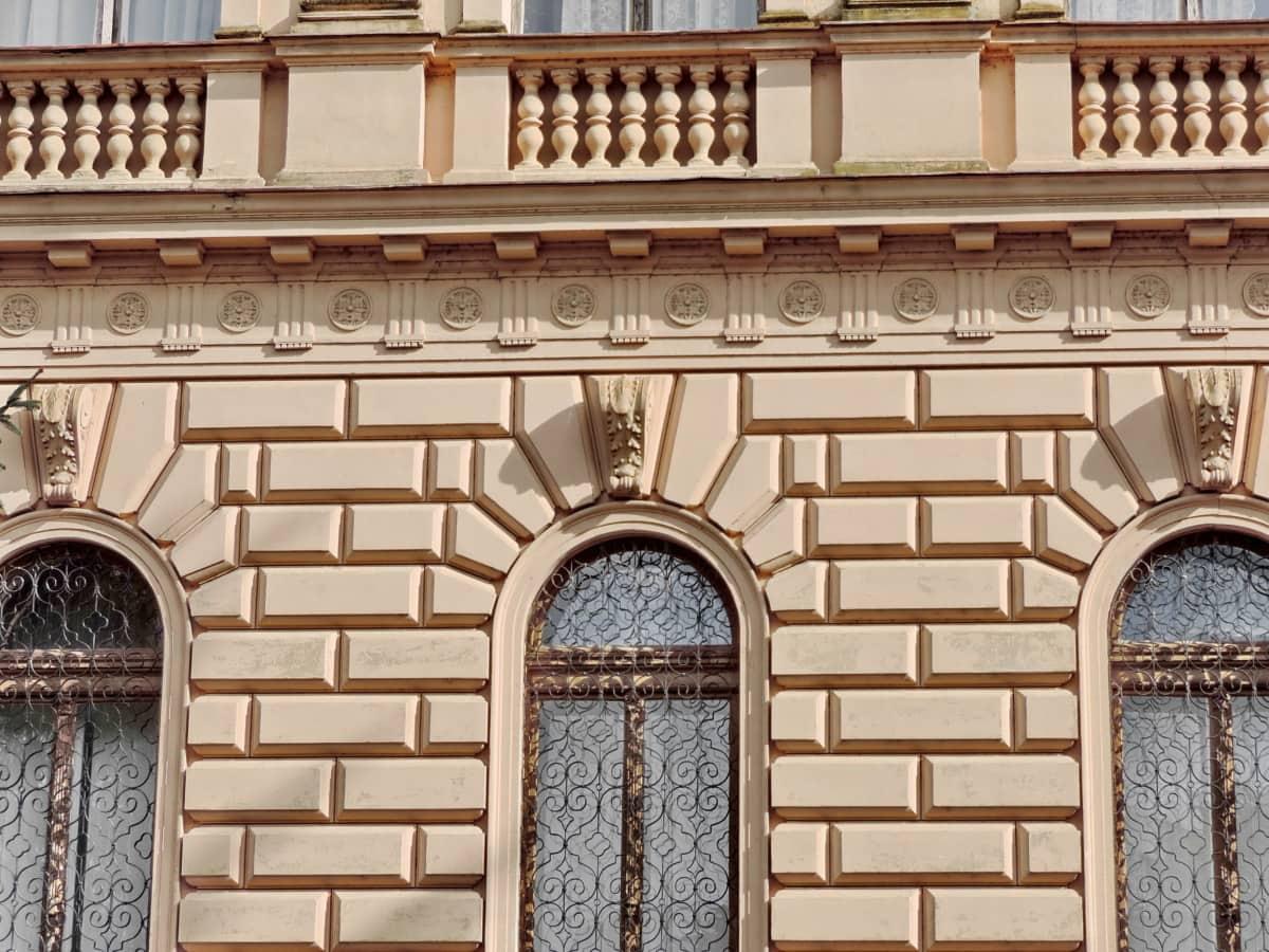 imperial, palača, prozori, zgrada, fasada, arhitektura, zid, stari