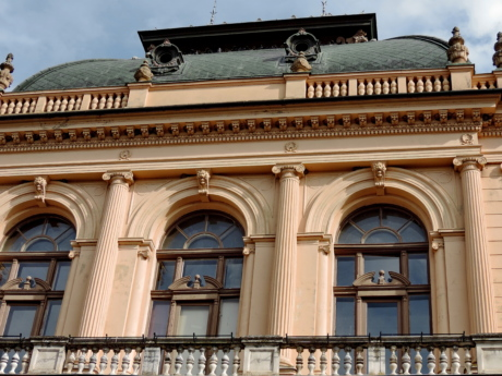 balcony, baroque, museum, palace, windows, architecture, facade, building