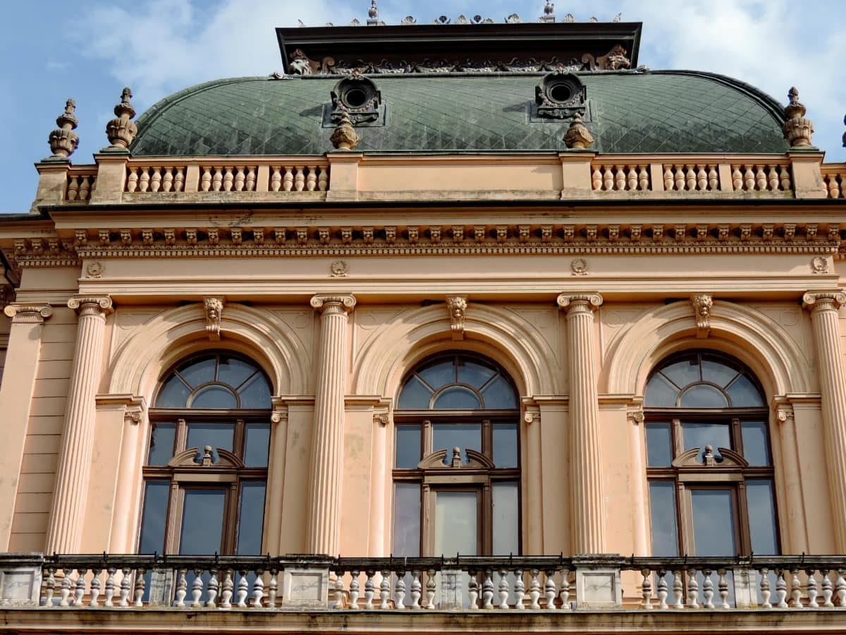 balcony, castle, museum, palace, roof, architecture, facade, building