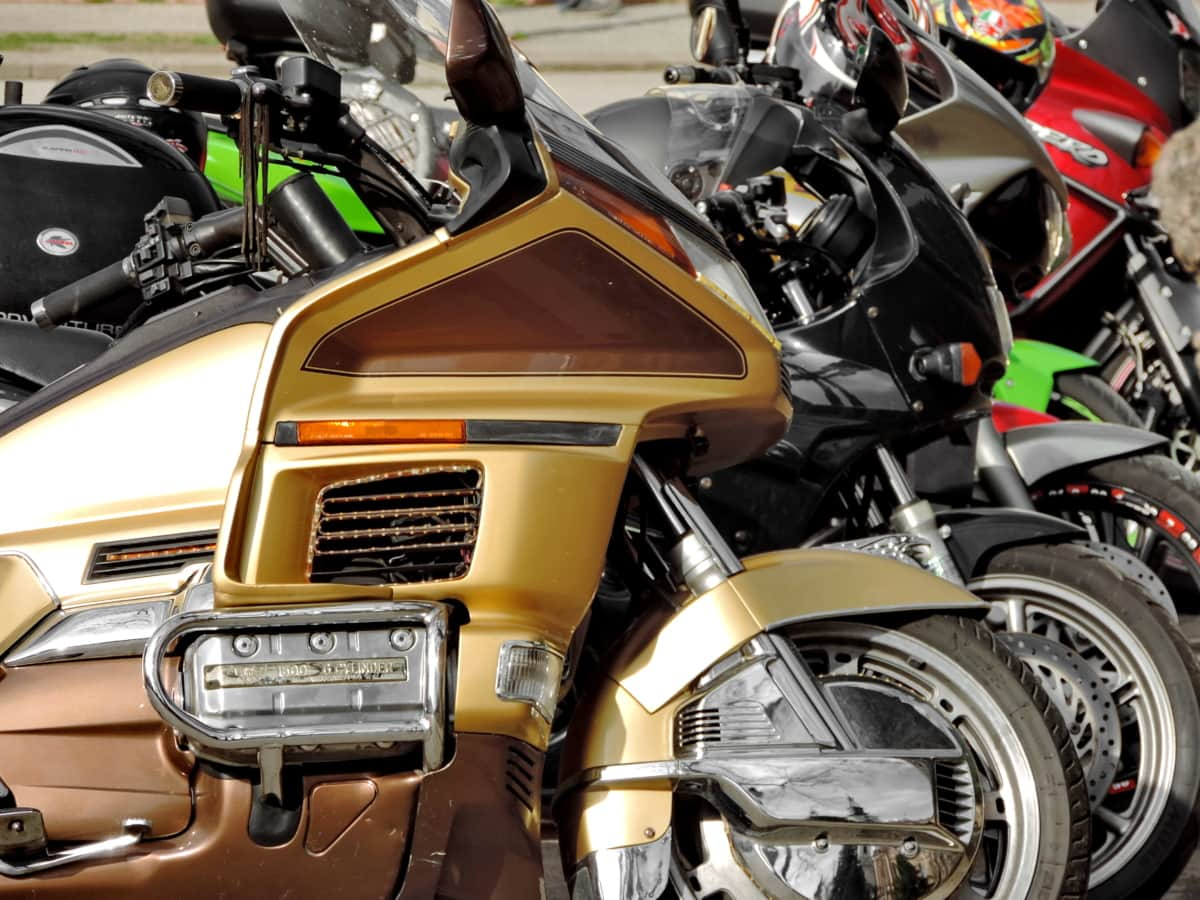 moderni, moottoripyörä, moottoripyörä, ajoneuvon, pyörä, kuljetus, moottori, rotu