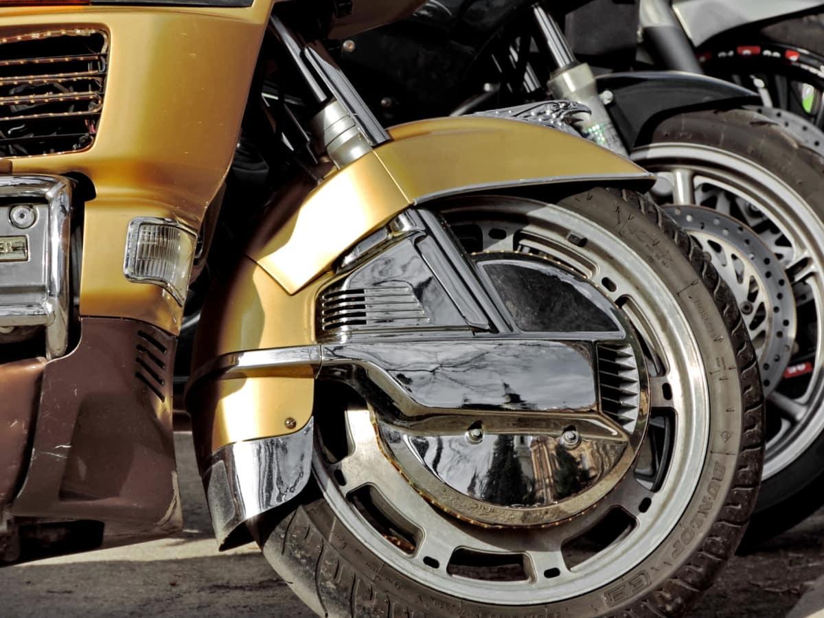 χρώμιο, μοτοσικλέτα, από ανοξείδωτο χάλυβα, όχημα, τροχός, ποδήλατο, κλασικό, μονάδα δίσκου