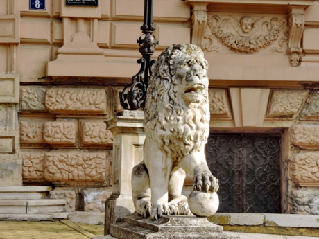 facade, handmade, lion, architecture, sculpture, statue, column, ancient
