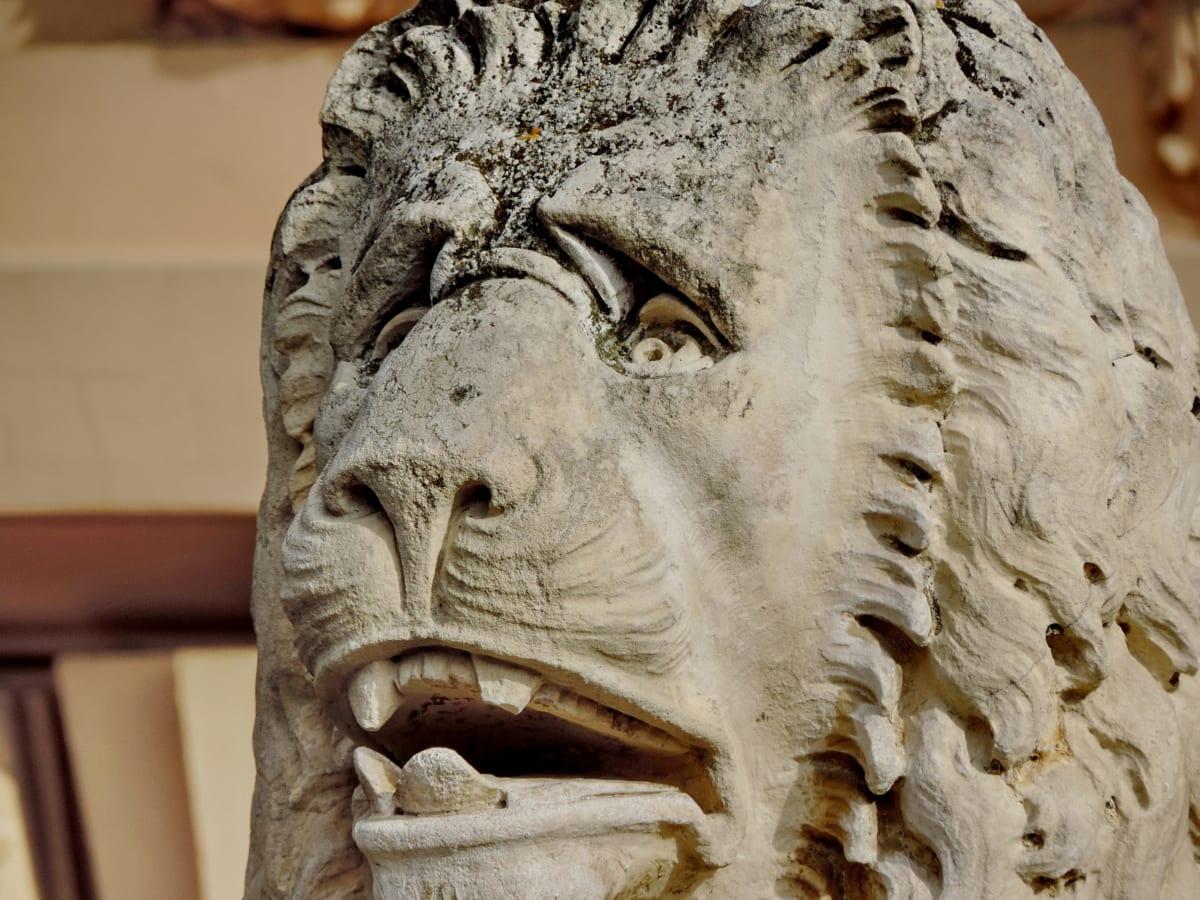 αντίκα, τέχνη, Πολιτισμός, λιοντάρι, μάρμαρο, πορτρέτο, σκάλισμα, άγαλμα