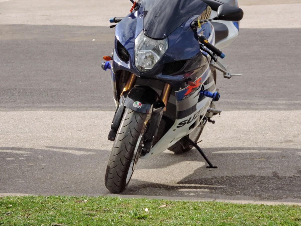 rapide, phare, moto, Itinéraire, compétition, vélo, gens, action