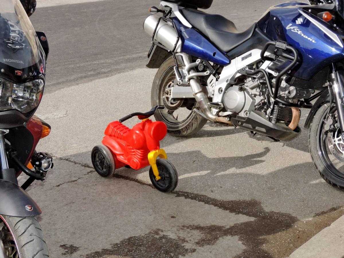 moottoripyörä, objekti, muovi, lelu, kuljetus, pyörä, moottori, moottoripyörä