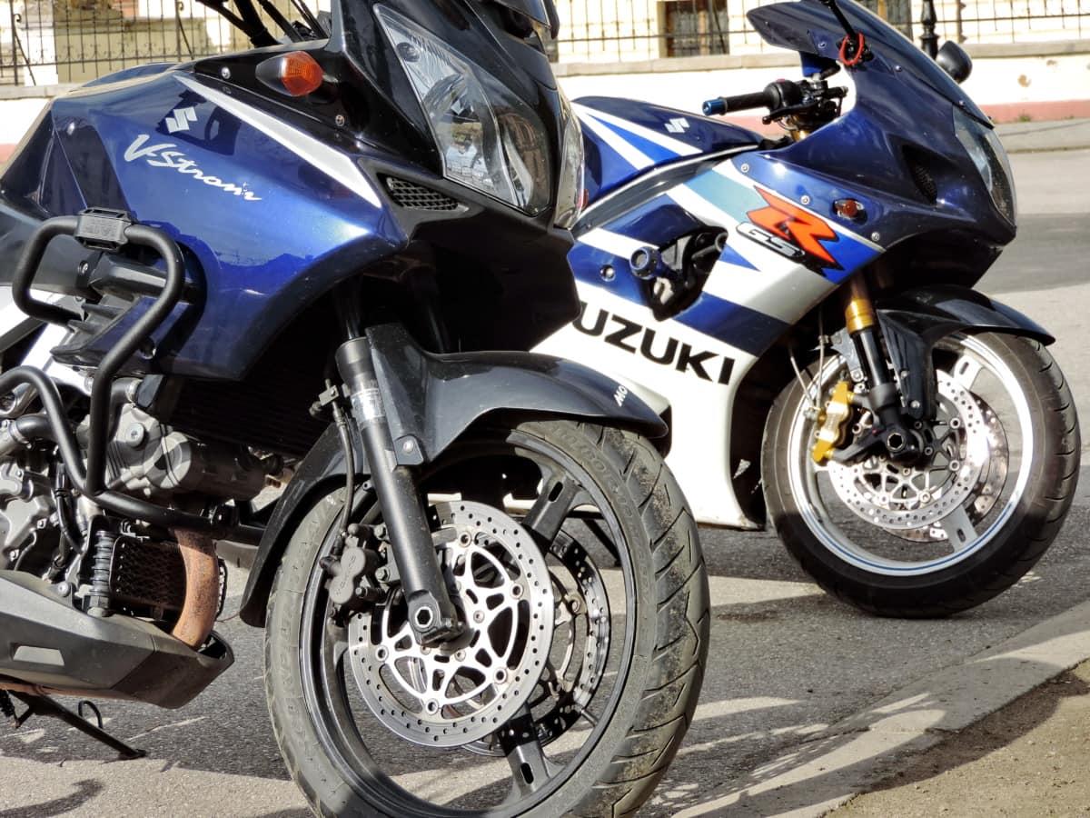 krom, motorsykkel, parkeringsplassen, hjul, stasjon, transport, motorsykkel, kjøretøy