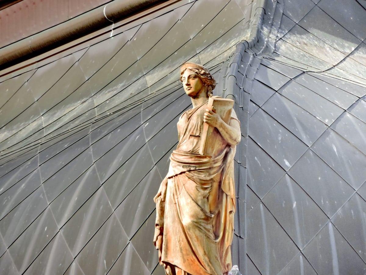 Kunst, Büste, Modell, Dach, Statue, Frau, Porträt, Fenster