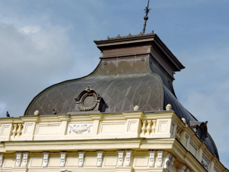 copper, palace, roof, tower, city, architecture, building, dome