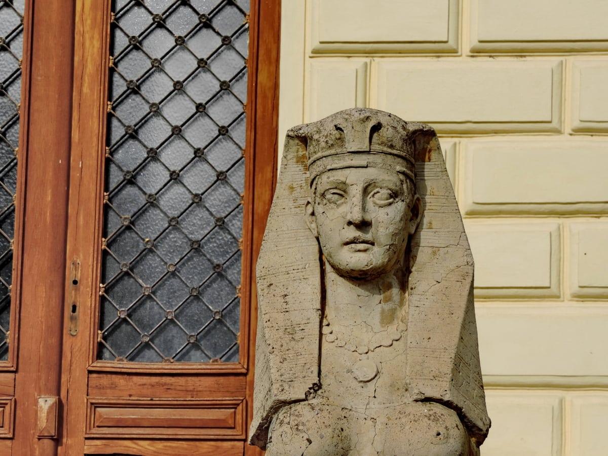 kunst, utskjæring, statuen, religion, skulptur, tre, døren, arkitektur