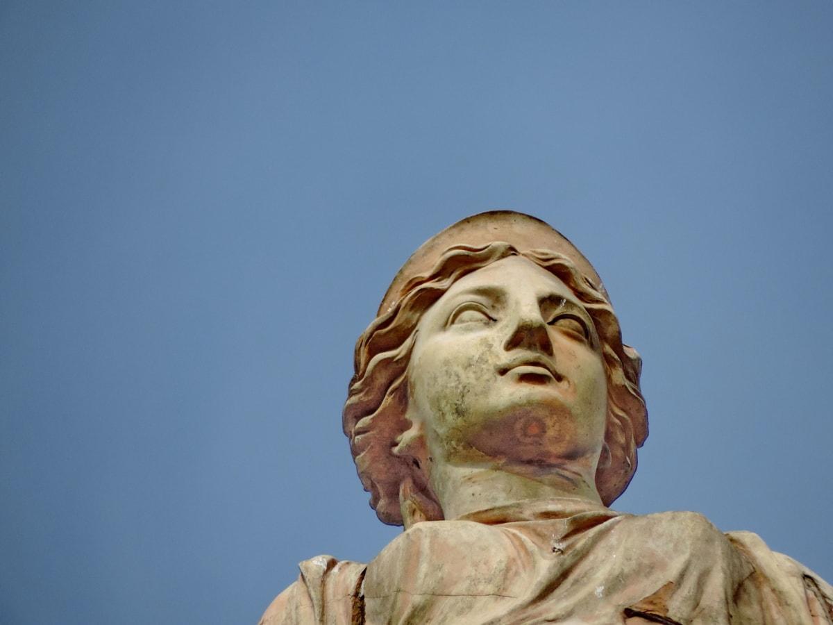 жена, дърворезба, скулптура, статуя, хора, религия, изкуство, портрет