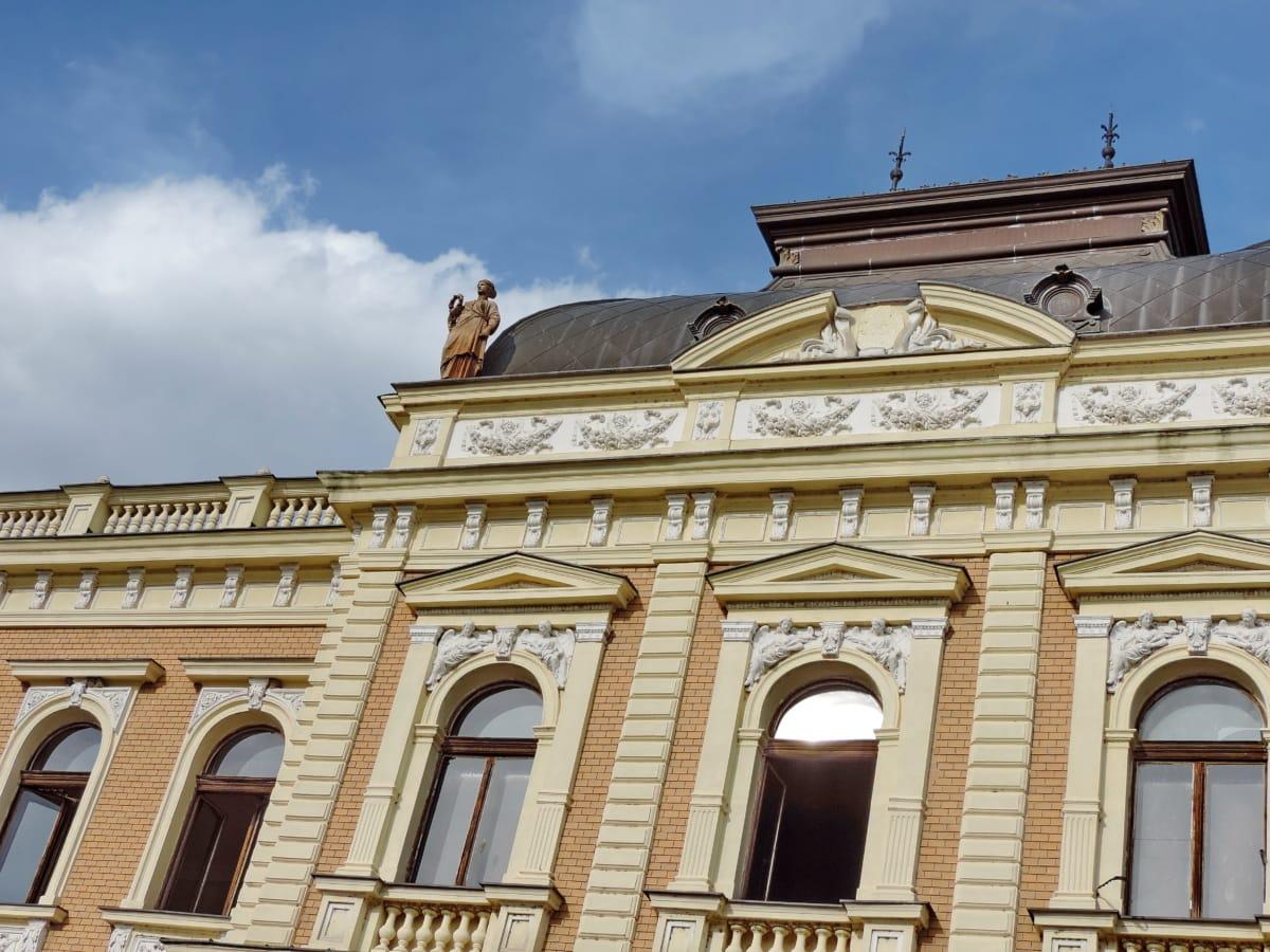 πρόσοψη, αρχιτεκτονική, κτίριο, πόλη, παλιά, σε εξωτερικούς χώρους, Αρχαία, ορόσημο