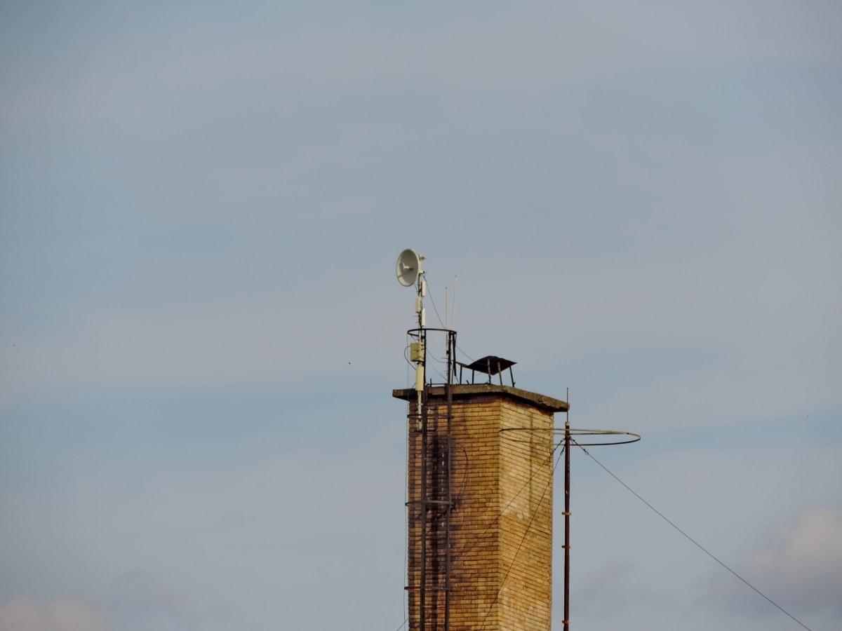 καμινάδα, βιομηχανία, κεραία, Πύργος, σε εξωτερικούς χώρους, τεχνολογία, περιβάλλον, ρύπανση