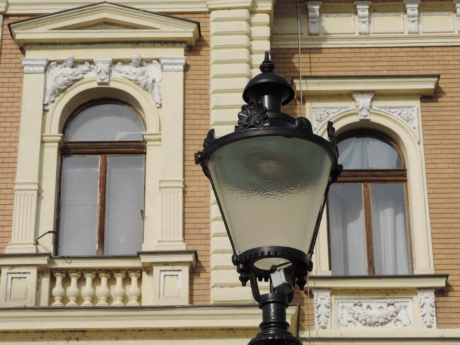 architecture, device, lamp, lantern, house, city, old, building