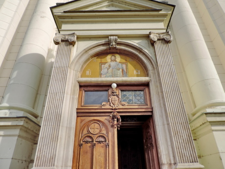 front door, cathedral, architecture, church, facade, building, column, city