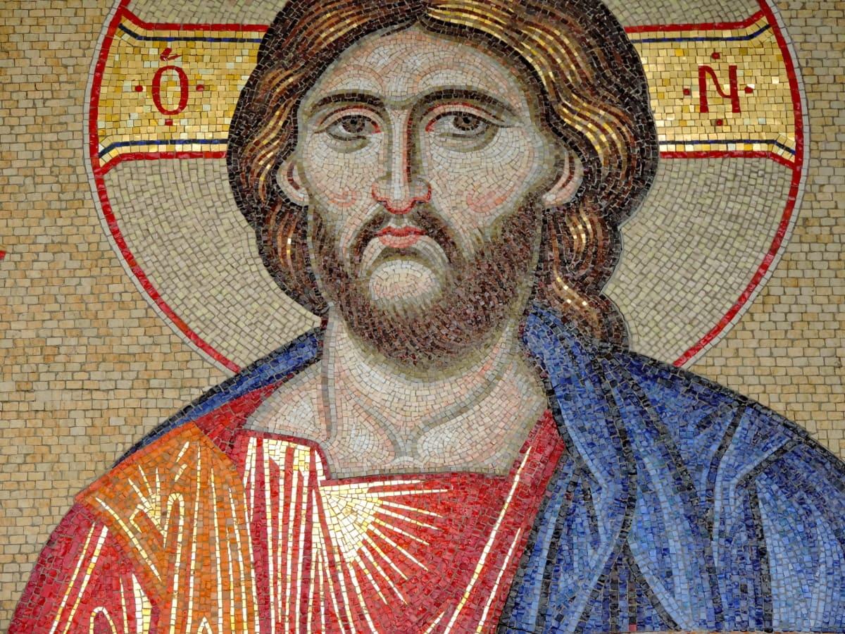 Kristus, kristendommen, ikon, mosaik, kunst, gamle, mand, Portræt