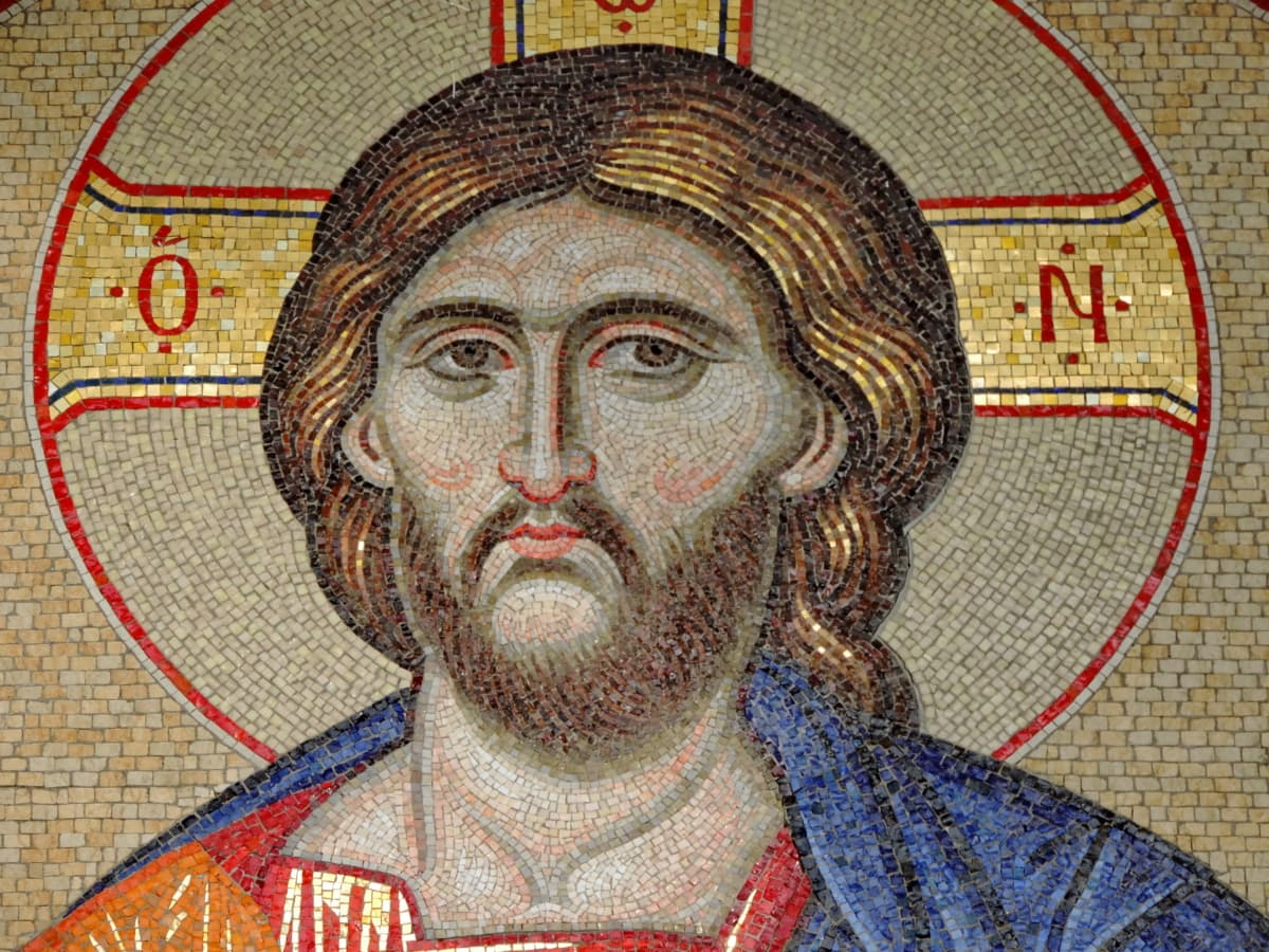Christ, christianity, icon, portrait, spirituality, mosaic, art, creation