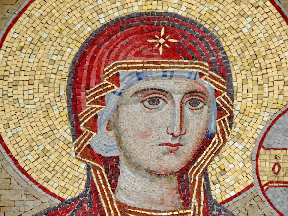 Christianisme, mosaïque, mère, religion, art, peinture, mur, culture