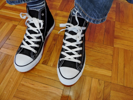 black and white, casual, comfort, comfortable, footwear, old fashioned, old style, sneakers
