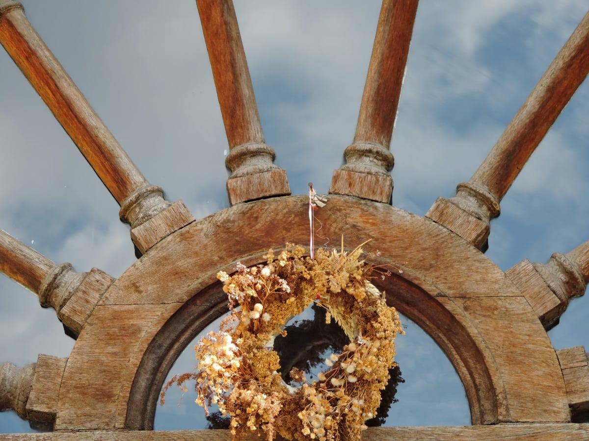 сухо, стъкло, отражение, натюрморт, архитектура, стар, дървен материал, древен