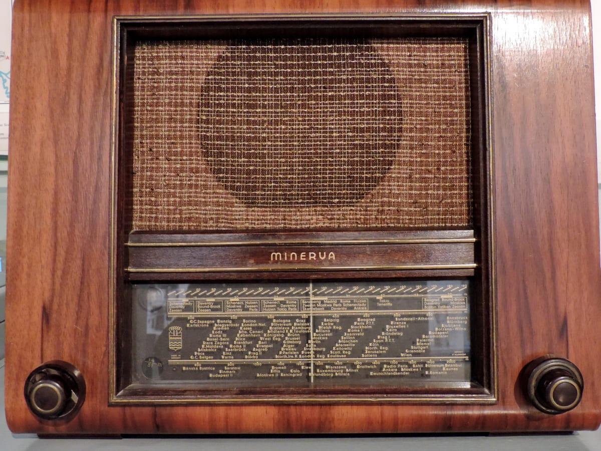 antyk, Historia, radia, odbiornik radiowy, socjalizm, drewno, stary, urządzenia