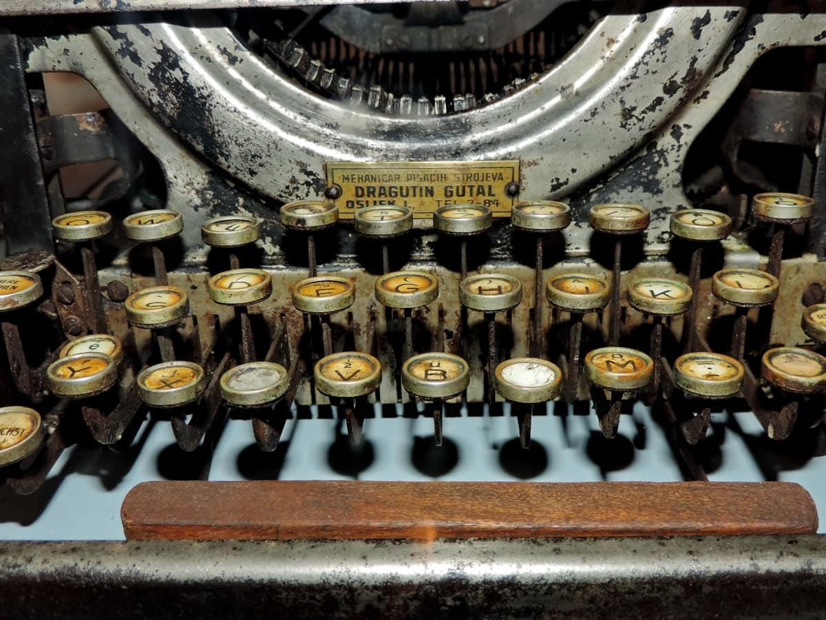 thời cổ đại, lịch sử, máy đánh chữ, cũ, thiết bị, đồ cổ, công nghệ, cuộc hái nho