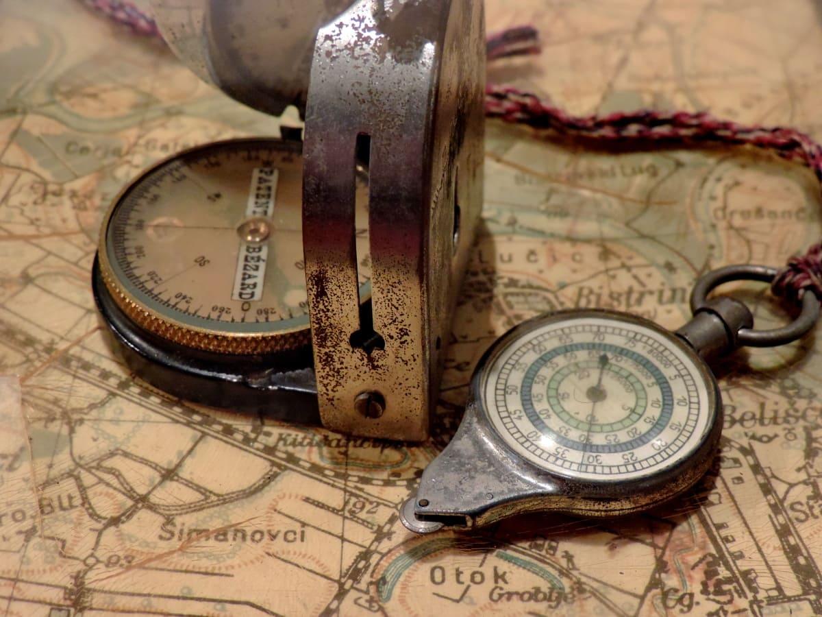 Antik, Pusula, Coğrafya, Geçmiş, harita, Gezinti, enstrüman, keşif