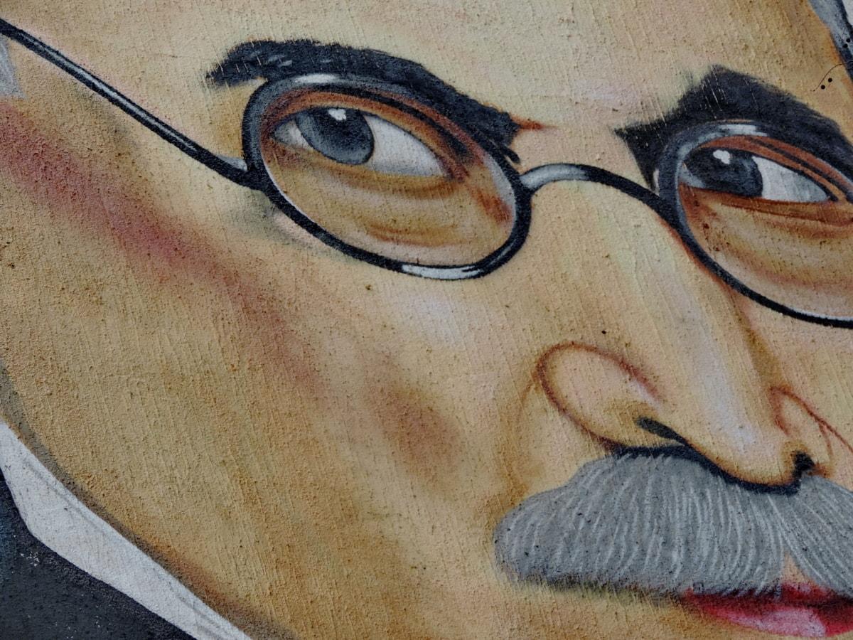 eyeglasses, face, graffiti, nose, woman, people, portrait, art