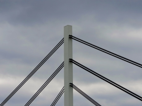 suspension bridge, steel, cable, structure, pole, tower, high, architecture