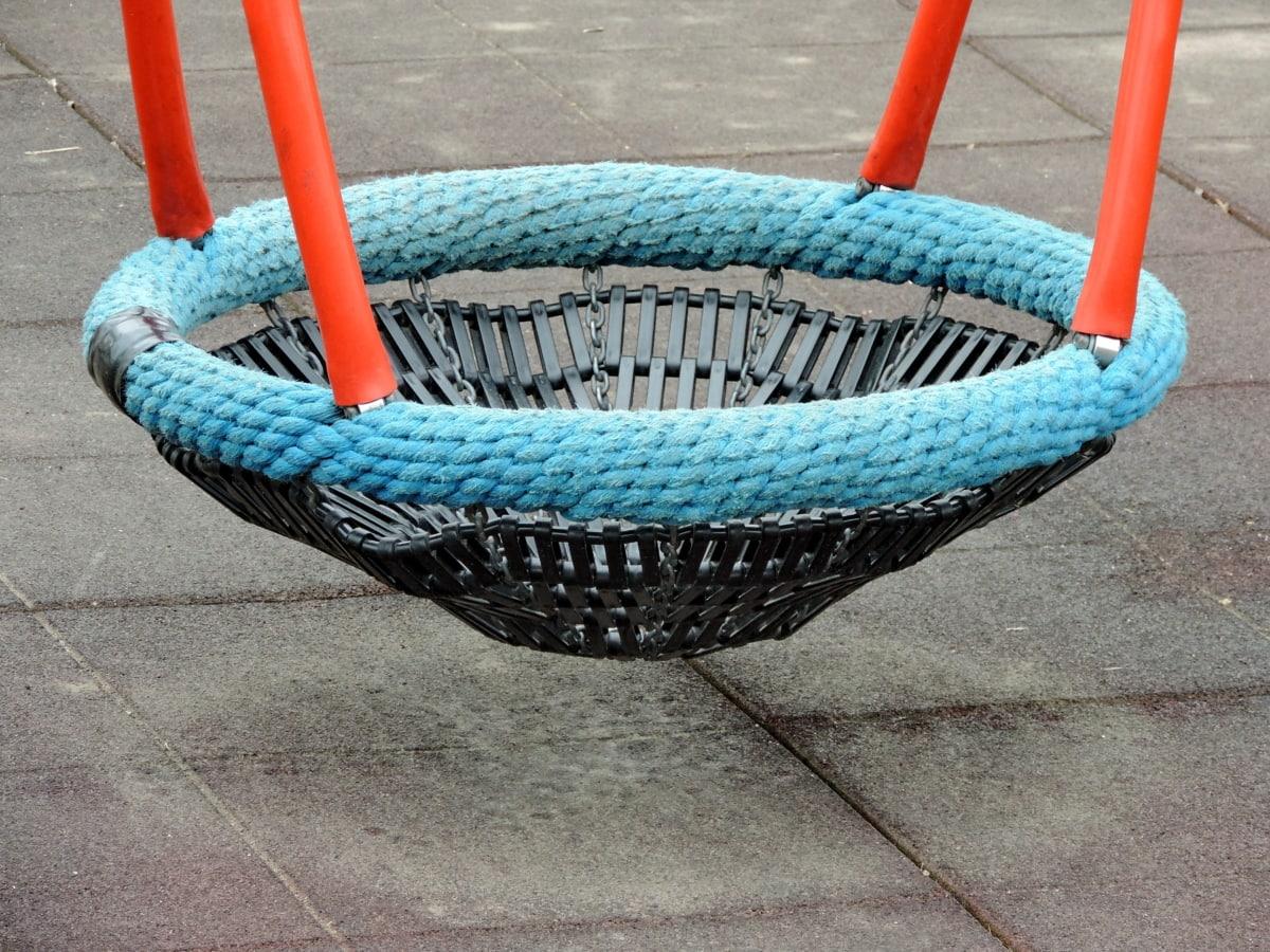 Детска площадка, люлка, кошница, въже, дървени, свободно време, седалка, празен