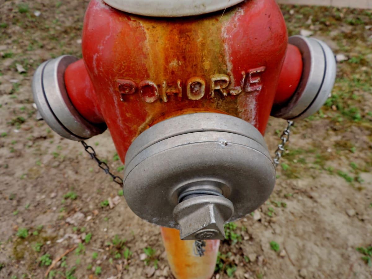 slitina, hliník, litina, hydrantu, objekt, Příroda, hadice, staré
