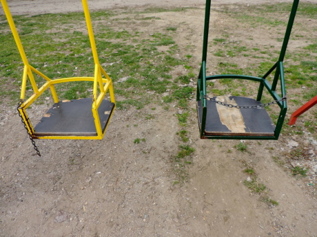 playground, swing, park, recreation, summer, leisure, outdoors, empty