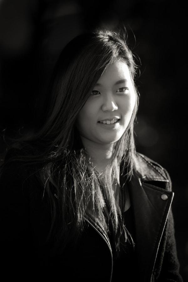 Asian, black and white, gorgeous, photo model, pretty girl, model, monochrome, girl
