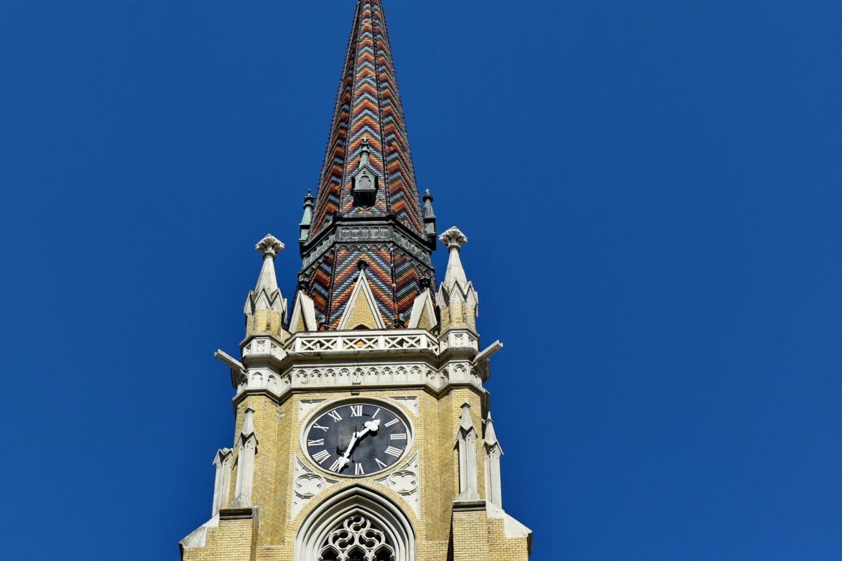 πύργος εκκλησιών, στο κέντρο της πόλης, γοτθικός, που καλύπτει, αρχιτεκτονική, Πύργος, κτίριο, ορόσημο