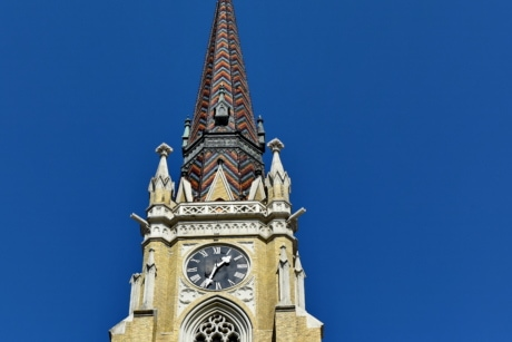 church tower, downtown, gothic, covering, architecture, tower, building, landmark