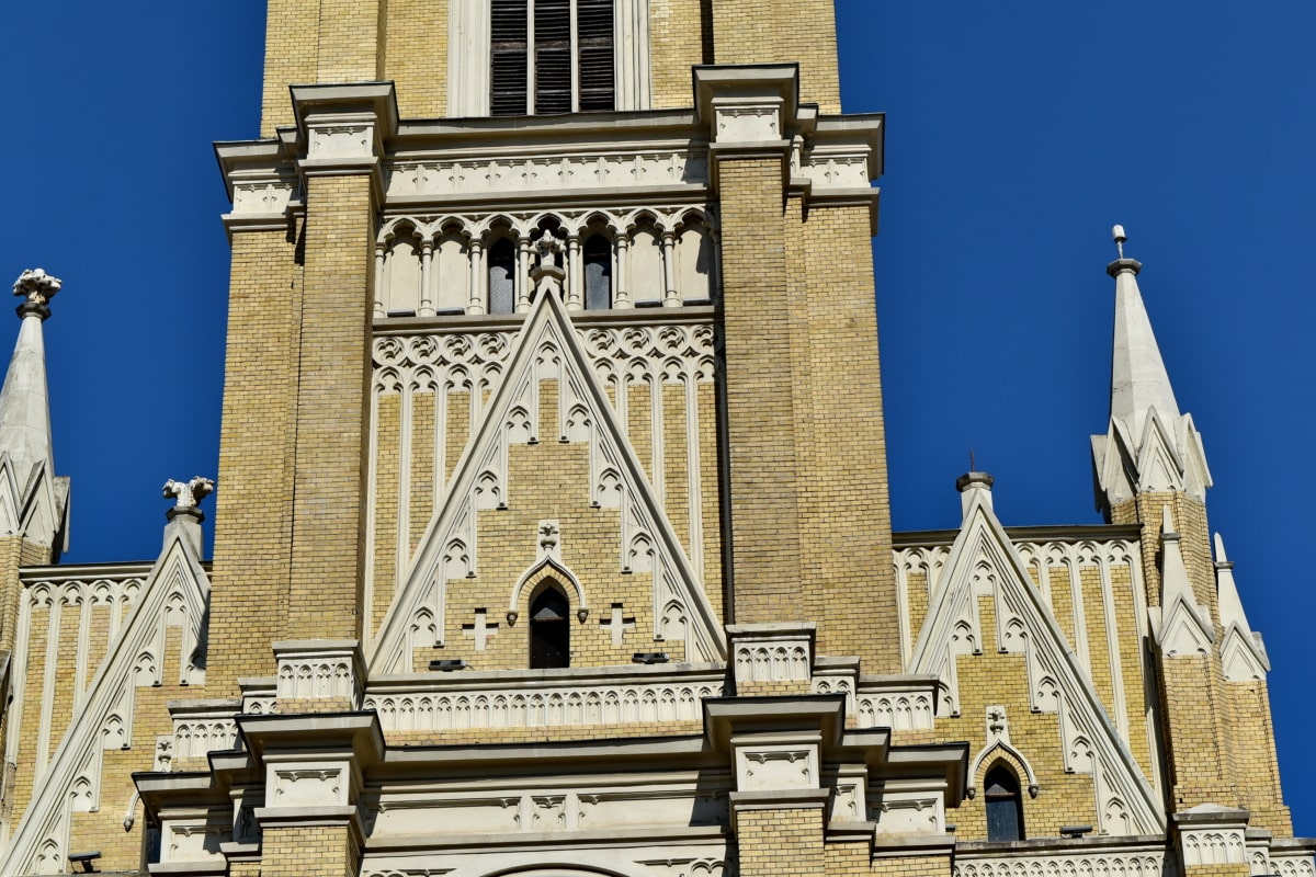 christianity, gothic, architecture, facade, church, tower, religion, building