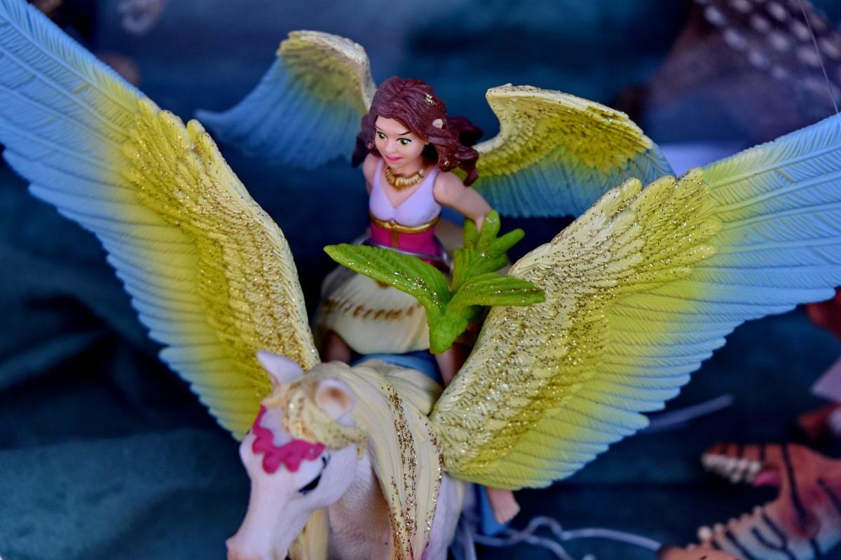 anđeo, dekoracija, konj, objekat, razigrano, igračke, trgovina igračaka, krila