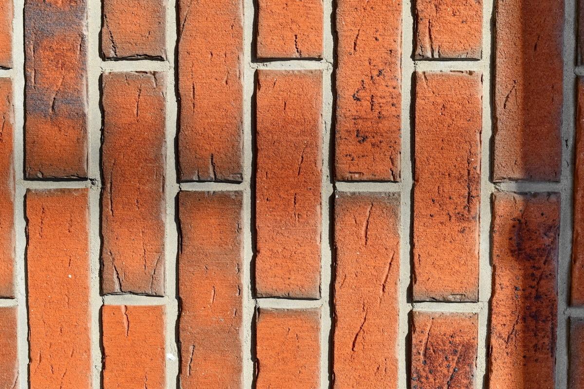 verticale, vechi, clădire, perete, caramida, textura, beton, suprafata