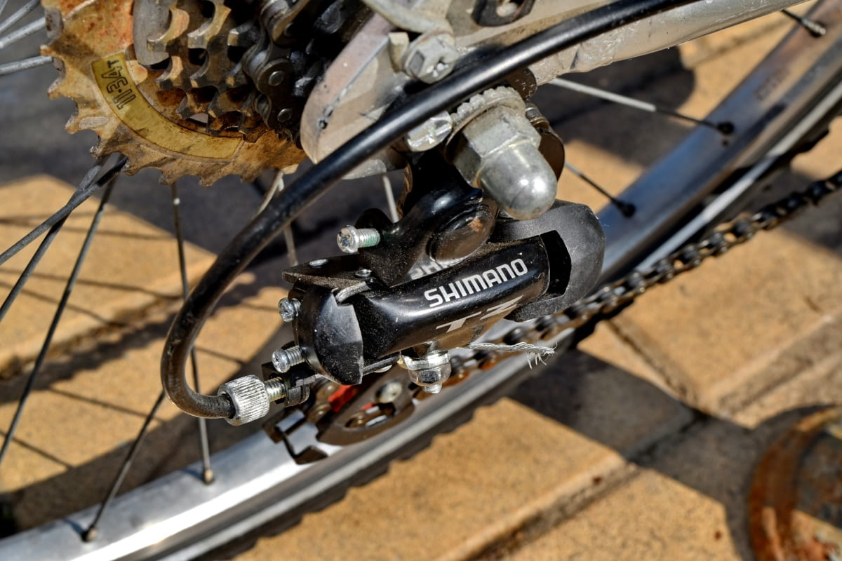 rowerów, biegu, Dźwignia zmiany biegów, metalu, stary, rower, łańcuch, Maszyny